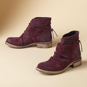 Sundance wrap & tie ankle boots suede booties